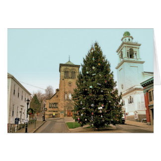 Christmas Tree Town Square Plymouth MA Card