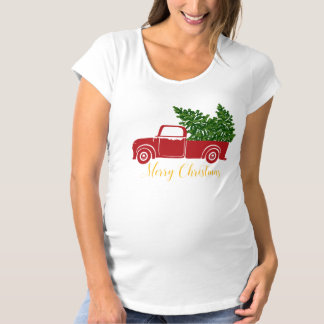 Christmas tree truck Maternity T-Shirt