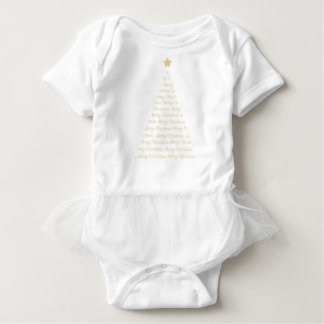 Christmas Tree Tutu all in one Baby Bodysuit
