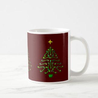 Christmas tree, unusual pixel art design coffee mug