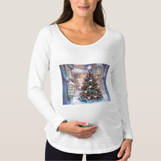Christmas Tree Vintage Maternity T-Shirt