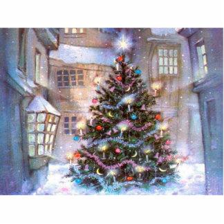 Christmas Tree Vintage Photo Sculpture Magnet