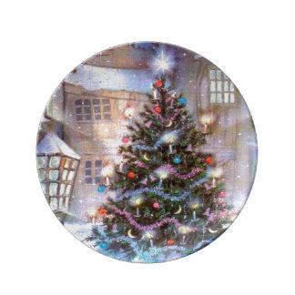Christmas Tree Vintage Plate