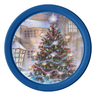 Christmas Tree Vintage Poker Chips