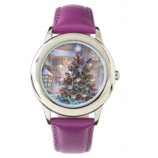 Christmas Tree Vintage Wrist Watch