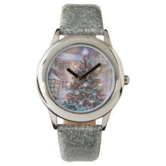 Christmas Tree Vintage Wristwatch