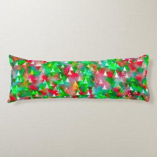 Christmas Tree Watercolor Pattern Body Pillow