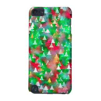 Christmas Tree Watercolor Pattern iPod Touch (5th Generation) Cases