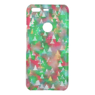 Christmas Tree Watercolor Pattern Uncommon Google Pixel Case