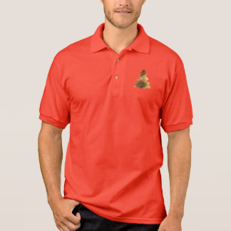 Christmas Tree with Candles Gold Look Polo Shirt