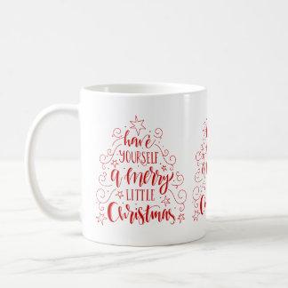 Christmas Tree With Modern Typography Coffee Mug