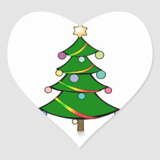 Christmas Tree with Rasta Garland Heart Sticker
