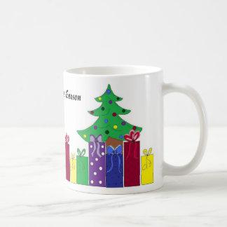 Christmas Tree with Wrapped Presents Coffee Mug