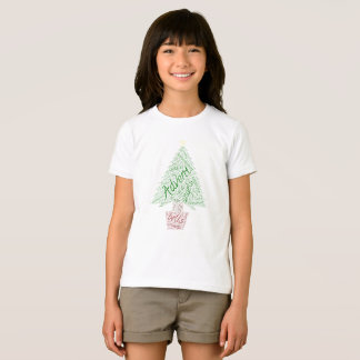 Christmas Tree Wordart T-shirt