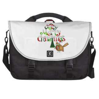 Christmas Tree Words Laptop Bags