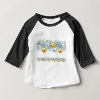 Christmas Tree Wreath Garland Design Baby T-Shirt
