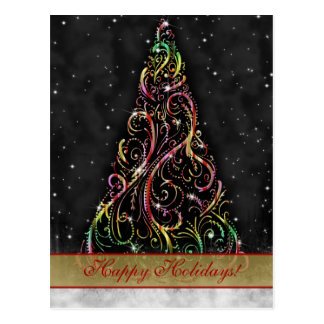 Christmas Tree Xmas Holiday Greeting Postcard
