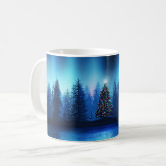 Christmas tree Xmas peaceful forest Coffee Mug