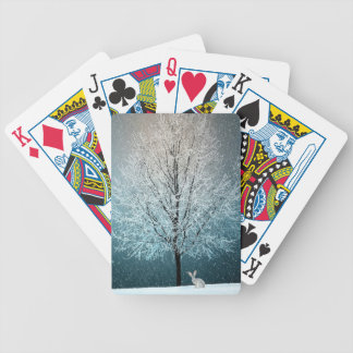 Christmas Trees at Night Bicycle Playing Cards