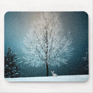 Christmas Trees at Night Mouse Pad