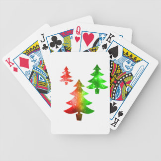 Christmas Trees Bicycle Playing Cards