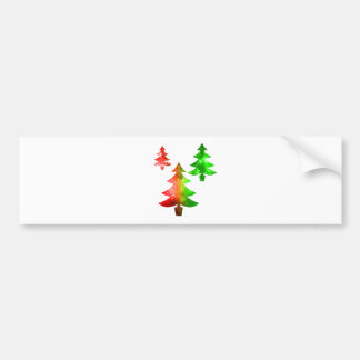 Christmas Trees Bumper Sticker
