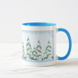 CHRISTMAS TREES by SHARON SHARPE Mug