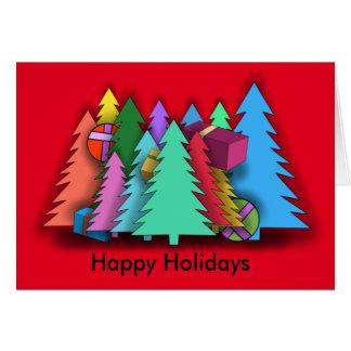CHRISTMAS TREES by Slipperywindow Card