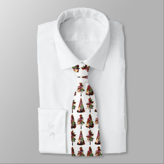 Christmas trees design elegant holiday tie