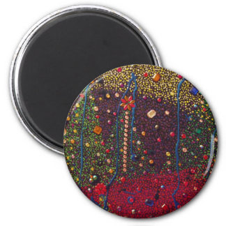 Christmas Trees & Gems Painting Magnet
