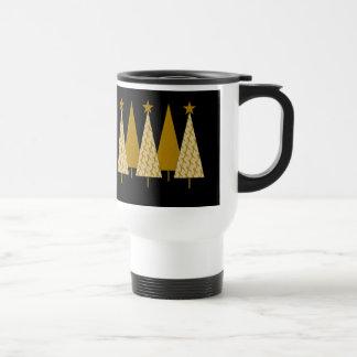 Christmas Trees - Gold Ribbon Mug