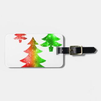 Christmas Trees Luggage Tag