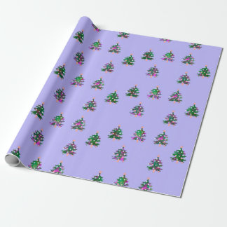 """Christmas Trees Matte Wrapping Paper, 30"""" x 6' Wrapping Paper"""