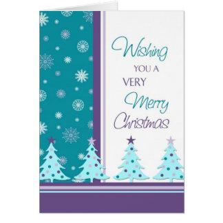 Christmas Trees Merry Christmas Card