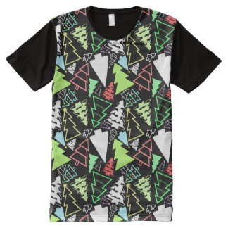 Christmas Trees Pattern All-Over-Print T-Shirt