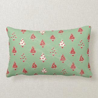 Christmas Trees Pattern Lumbar Pillow