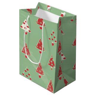 Christmas Trees Pattern Medium Gift Bag