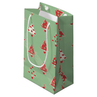 Christmas Trees Pattern Small Gift Bag
