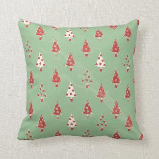Christmas Trees Pattern Throw Pillow