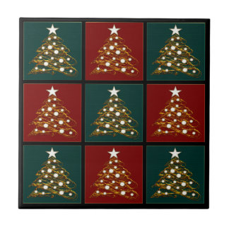 Christmas Trees Pattern Tile