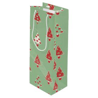 Christmas Trees Pattern Wine Gift Bag