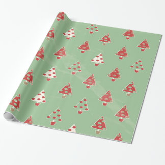 Christmas Trees Pattern Wrapping Paper