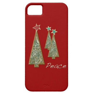 Christmas Trees-Peace/Red Case For The iPhone 5