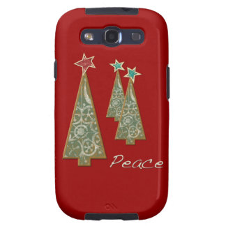 Christmas Trees-Peace/Red Galaxy SIII Case