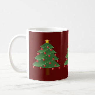 Christmas Trees/ Red Classic Mug