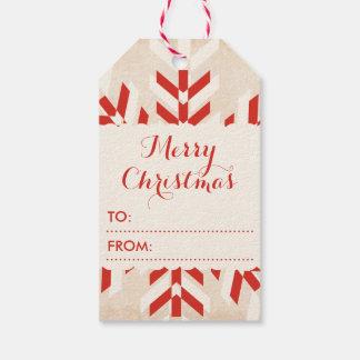 Christmas Tribal Snowflake Pack Of Gift Tags