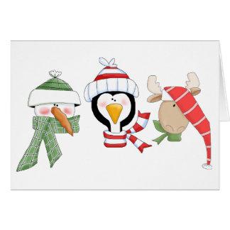 Christmas Trio Animals Card
