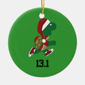 Christmas Turtle runner 13.1 Ceramic Ornament