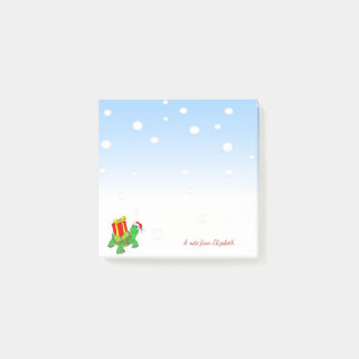 Christmas,Turtle Santa Hat,Present-Personalized Post-it Notes
