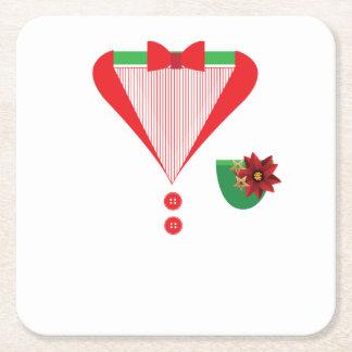 Christmas Tuxedo christmas costume Square Paper Coaster